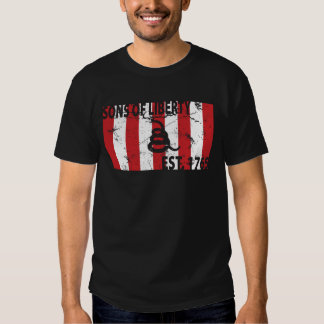 9 Stripped Sons of Liberty Flag T Shirt