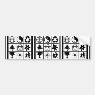 9 Symbols make a perfect Story Success Focus GIFTS Bumper Sticker