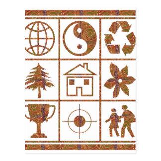 9 symbols make great KIDS motivational story GIFT Postcard