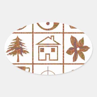 9 symbols make great KIDS motivational story GIFT Oval Sticker