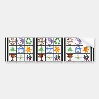 9 SYMBOLS make KIDS motivation conversation story Bumper Stickers