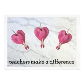 9 Teachers Make A Difference Custom Announcement