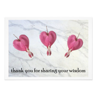 9 Thank You For Sharing Your Wisdom Personalized Announcement