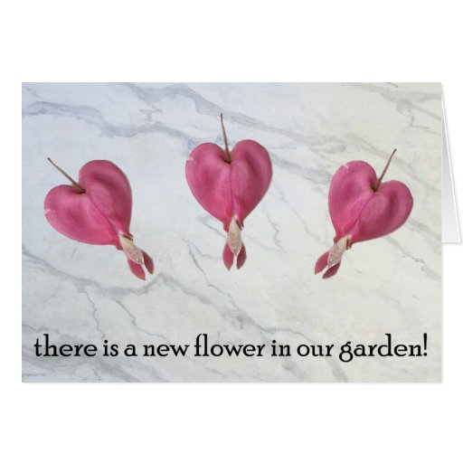 9 There is a new flower in our garden Card