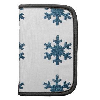 9 Turquoise Rhinestone Snowflake Ornaments Planners