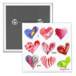 9 Valentine Hearts Pin