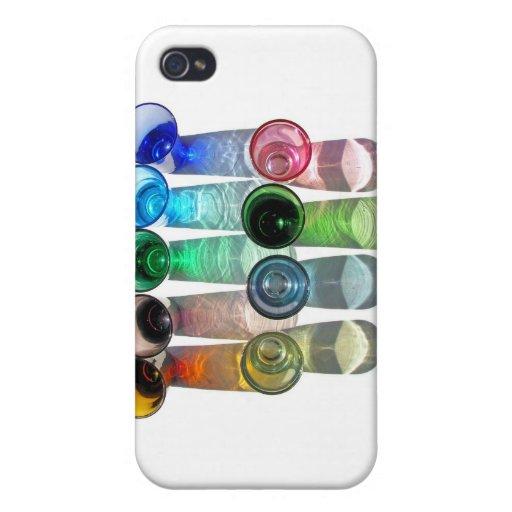 9 vasos de medida coloreados del cóctel - estilo 9 iPhone 4 protector