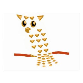 9-White Owl Postcard