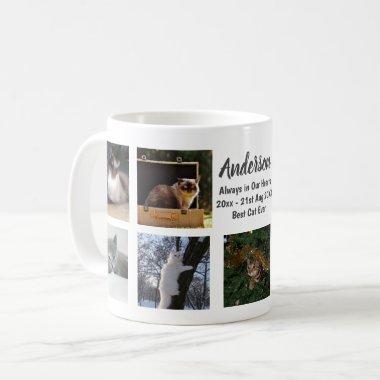 9 x Photo Collage Cat Lovers Custom Text Memorial Coffee Mug