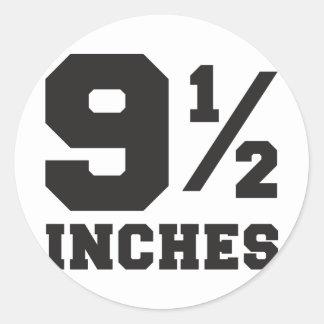 9 y de media pulgada 9 el 1/2 pegatina redonda