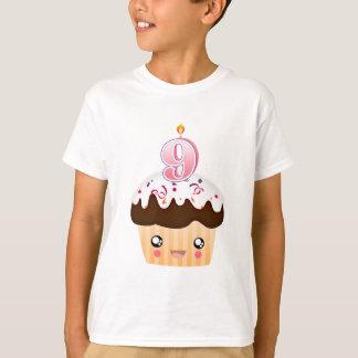 9 Year Cupcake T - Pink T-Shirt