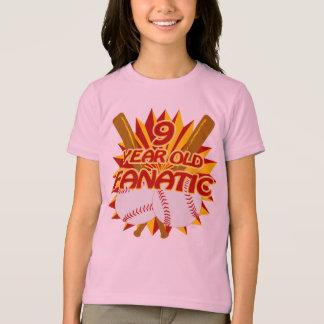 9 Year Old Baseball Fanatic T-Shirt