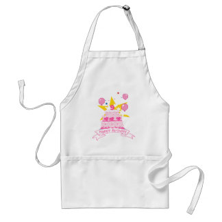 9 Year Old Birthday Cake Adult Apron