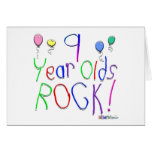 9 Year Olds Rock ! Card