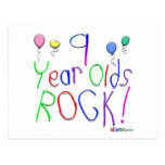 9 Year Olds Rock ! Postcards
