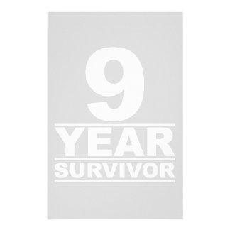 9 year survivor stationery