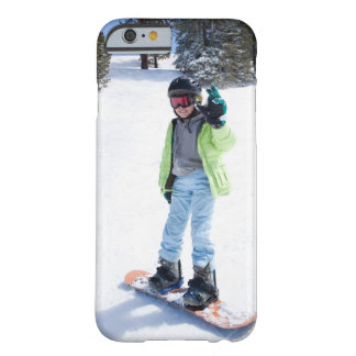 9 years old girl snowboarding barely there iPhone 6 case