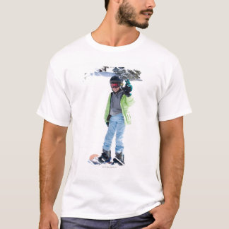 9 years old girl snowboarding T-Shirt