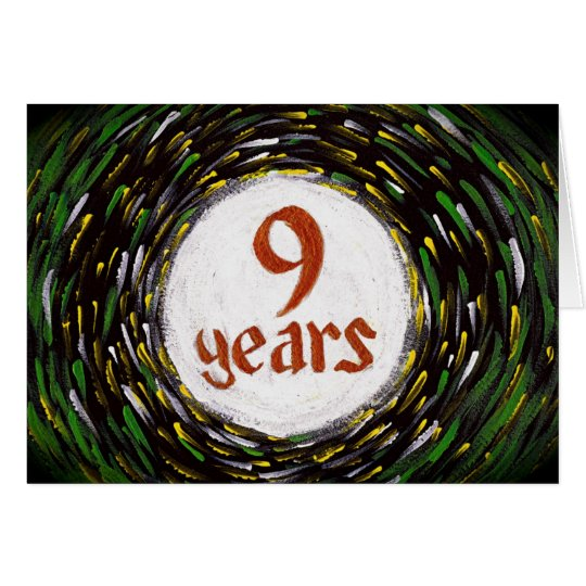 9 years sobriety birthday anniversary card zazzle