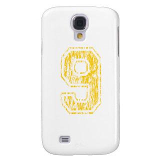 #9 Yellow Varsity Galaxy S4 Cover