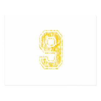 #9 Yellow Varsity Postcard