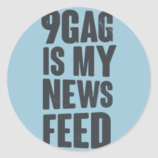 9gag es mi servicio de noticias pegatina redonda