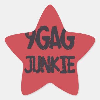 9gag junkie star sticker