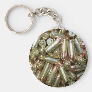 9mm ammo Ammunition Basic Round Button Keychain