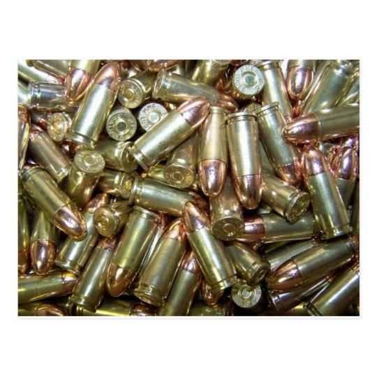 9mm ammo Ammunition Postcard