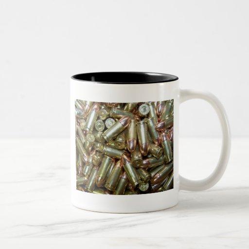 9mm ammo Ammunition Two-Tone Coffee Mug