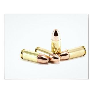 9mm Bullets 4.25x5.5 Paper Invitation Card