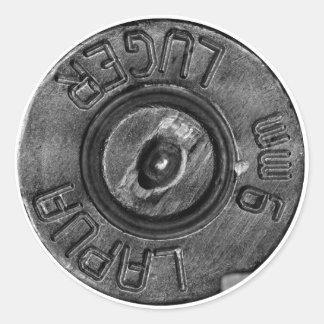 9mm Luger Round Stickers