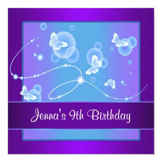 9na invitación 9 de la fiesta de cumpleaños de la