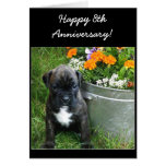9na tarjeta de felicitación feliz del perrito del