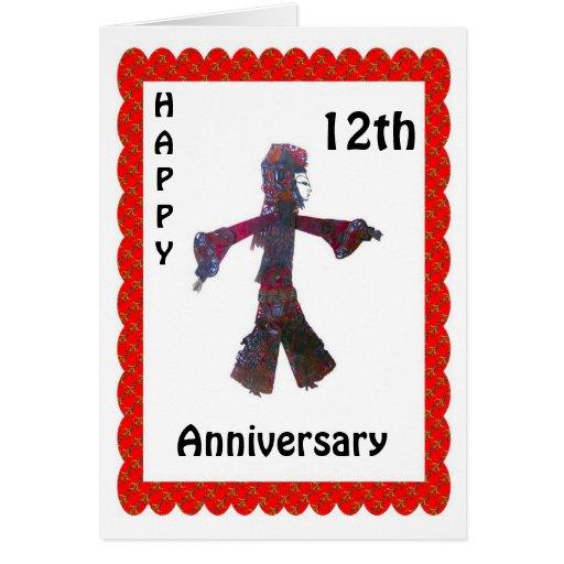 9no aniversario feliz tarjeta de felicitación