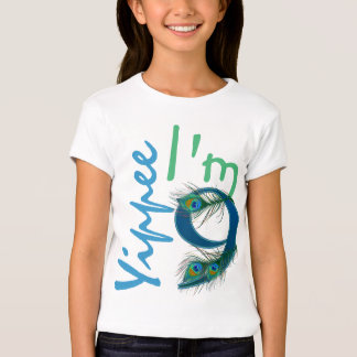 9no Camisetas del cumpleaños