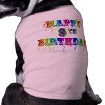 9no camisetas del cumpleaños, tazas del cumpleaños camiseta sin mangas para perro