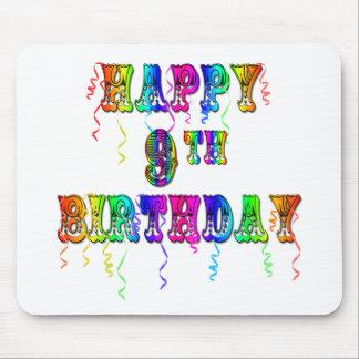 9no camisetas del cumpleaños, tazas del cumpleaños tapete de raton