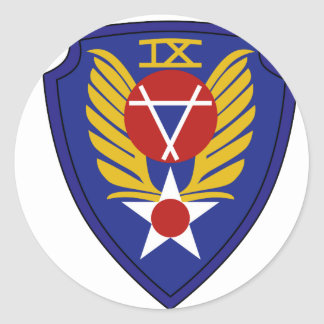 9no Comando del ingeniero Pegatina Redonda