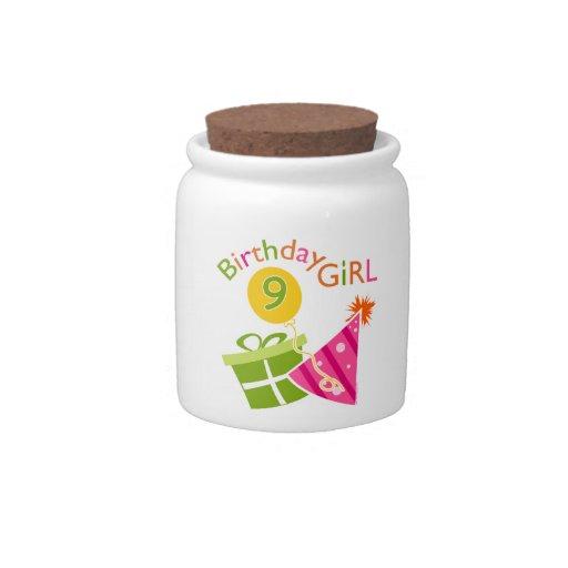 9no cumpleaños de los chicas jarra para caramelo