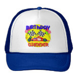 9no Cumpleaños del coche de carreras del cumpleaño Gorro De Camionero