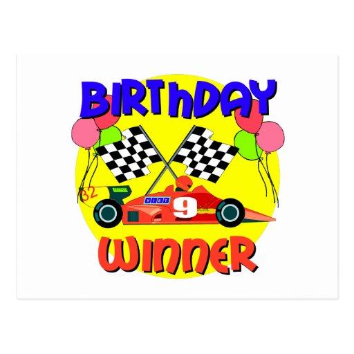 9no Cumpleaños del coche de carreras del cumpleaño Postales