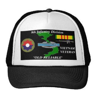 9no División de infantería casquillos CONFIABLES Gorros Bordados