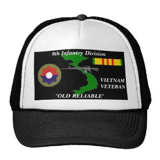 9no División de infantería casquillos confiables Gorros