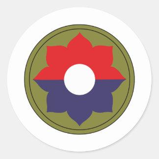 9no División de infantería Pegatina Redonda