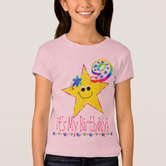 9no Estrellas del smiley de la camisa de la fiesta