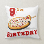 9no Fiesta de la pizza del cumpleaños Almohada