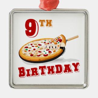 9no Fiesta de la pizza del cumpleaños Adorno De Navidad