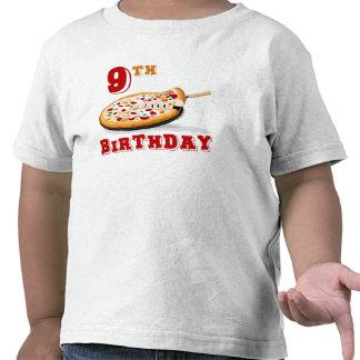 9no Fiesta de la pizza del cumpleaños Camisetas