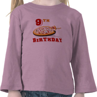 9no Fiesta de la pizza del cumpleaños Camiseta